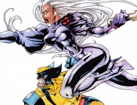 Storm and Wolverine - Final by StingRoll