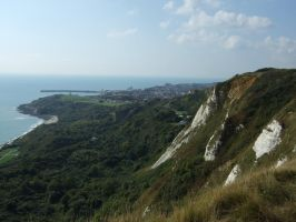 a view the cliffs folkestone by Sceptre63