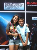 Me and my lil cousin SDCC by FieryHeaven