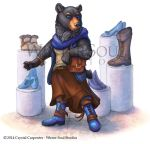 Blue Bear in Boots by soulofwinter