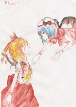 Remilia And Flandre by RedRedAkaii
