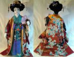 Art-Trade : Autumn Geisha OOAK Doll by mihijime