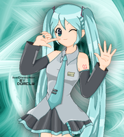 Hatsune Miku pixel doll by domclw
