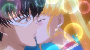 Usagi x Mamoru Kiss Screenshot by PuccadomiNyo