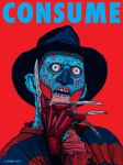 Freddy Krueger / THEY LIVE Mashup CONSUME series by HalHefnerART