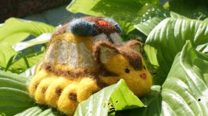 Catbus in the Leaves by hiltti