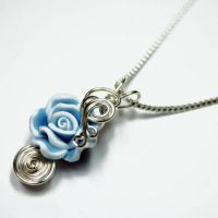 Blue Rose Perfume Pendant by Create-A-Pendant