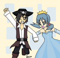 the pirate and the princess by mo0on3