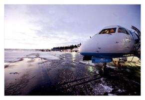 planes and snow by cei-