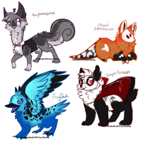 mixed species auction adopts (number 4 open) by MystikMeep