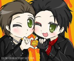 Lucky Mikey and Gerard by Eilyn-Chan