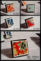 Chiyogami Rings Collection by RedFenyx