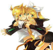 len and rin_hug by unknown-gal