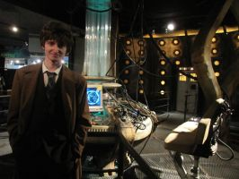 The Tenth Doctor in the TARDIS 2 by MBaca42
