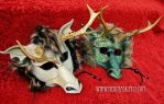 Locked Horns...frilled eastern dragon masks by merimask