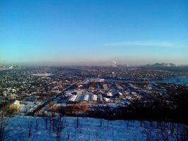Gorlovka, view from the waste heaps [2] by FCSD