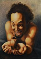 Self portrait in oils by the-surreal-arts