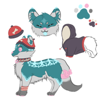 Collab Adopt Auction:Winter lace dog by misty-paws