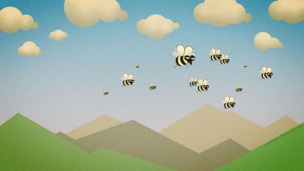 Bees on Parade by mygrinboy