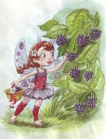 Lady bug fairy by Sabinerich