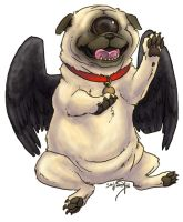 Fallen Angel Pug Cyclops by akireru