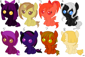 Babby pony adopts (CLOSED BUT CUSTOM SLOTS OPEN) by ThexStarxDestroyer