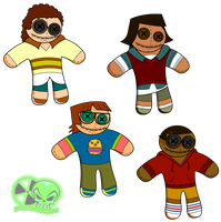 Dolls TD series the nerds and geeks by skull1045fox