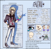 Alan Aanse ref sheet by Blind-Doe