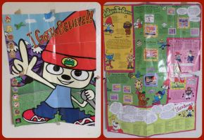 ( Parappa the Rapper ) 16x12 PS1 Vintage Poster by KrazyKari