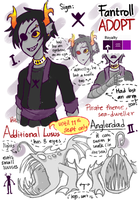 Adoptable [CLOSED] - Fantroll+Anglerlusus(Limited) by Mossygator