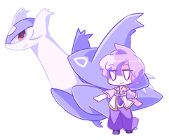Mega Latios and Anabel by kurotan-yamadakyo