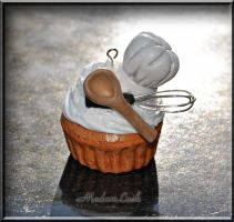Chef Themed Cupcake by MadamLuck