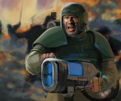 Imperial Guardsman Bruce by Feael