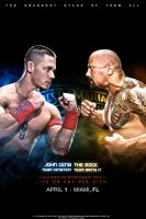 John Cena vs The Rock WM28 Poster by i-am-71
