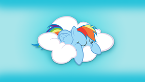 Rainbow Dash Snoozing on a Cloud by rmc008