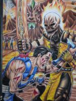 scorpion and sub zero by DesertoMental