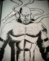 INKTOBER entry 18: Goldberg by suicidalassassin