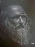 Sketch of an old man by grizlyjerr