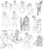SKETCH DUMP 4 by EriDaiho