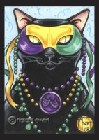 Mardi Gras Black Cat by natamon