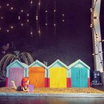 Brighton Beach Huts by thesearejessicakes