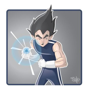 Vegeta by LINKWAKER