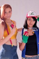 Ash and Misty Pokemon Cosplay by CarlaGolbat
