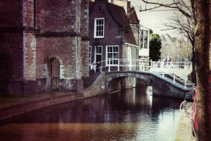 Canal next to Church by Dateq