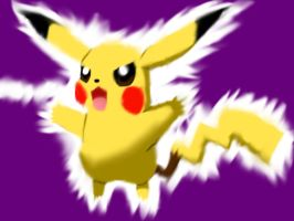 Pikachu using thundershock by barnowlgurl23