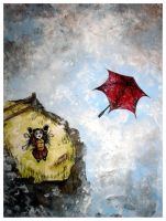 Red Umbrella I Lost As A Child by sweetscissorlips