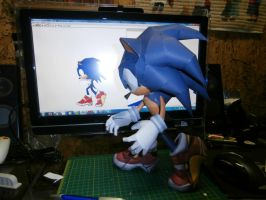Sonic The Hedgehog Papercraft (d) by Esteban1988