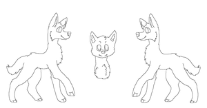 :FREE: Wolf Reference Sheet Lineart by Cloud-cakesx
