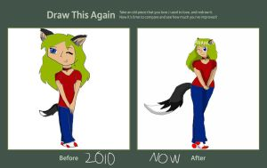 Bow wow: Then and now by badangel2012