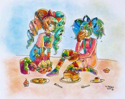AT : Cake and Amani by Val-Krayon